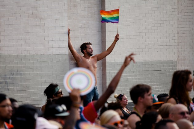 Thousands braved the heat for this year's Pride Parade