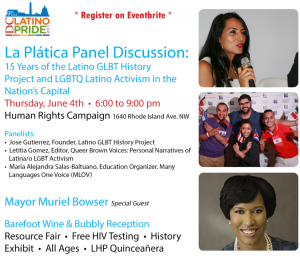 DC Latino Pride - La Platica, photo via  Latino GLBT History Project