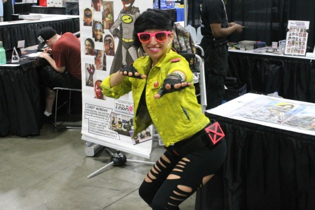 Carlie Anne Peña dressed as Jubilee from the X-Men