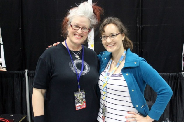 Local comic creators Teresa Logan and Carolyn Belefski