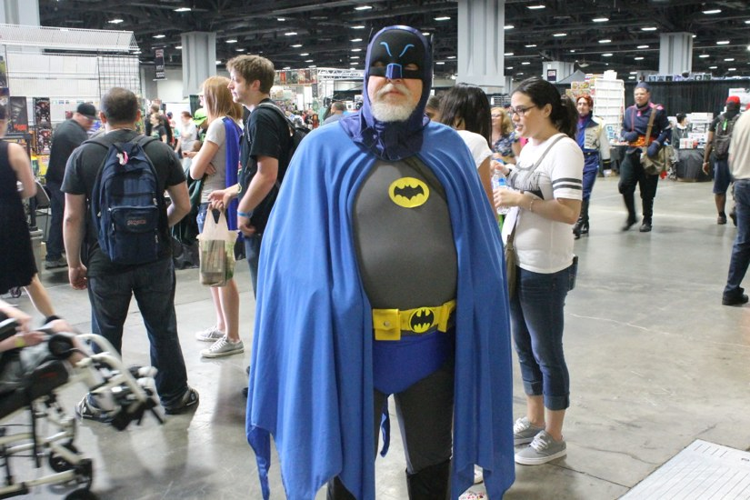 """It's my midlife crisis. Instead of buying a corvette, I bought a bat suit."""