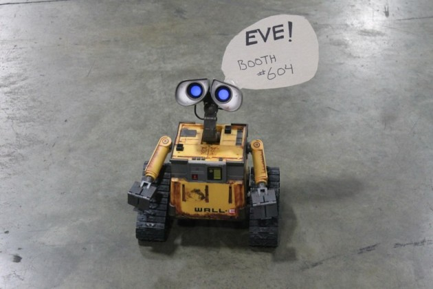 WALL-E roamed the show floor in search of Eve.