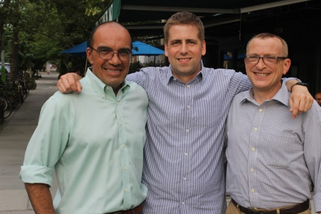 Scott Brodbeck (center) with Borderstan founders Matt Rhoades (right) and Luis Gomez