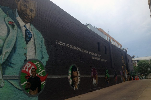 The new mural on the 1300 block of U Street NW