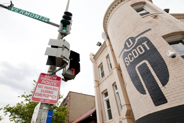 U Scoot is at Vermont & U Streets.