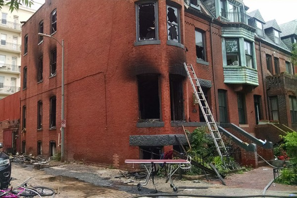 gutted Riggs Place Fire