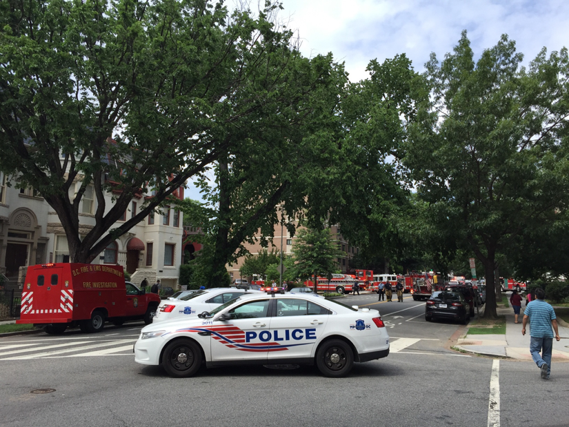 Firetrucks near Dupont Circle
