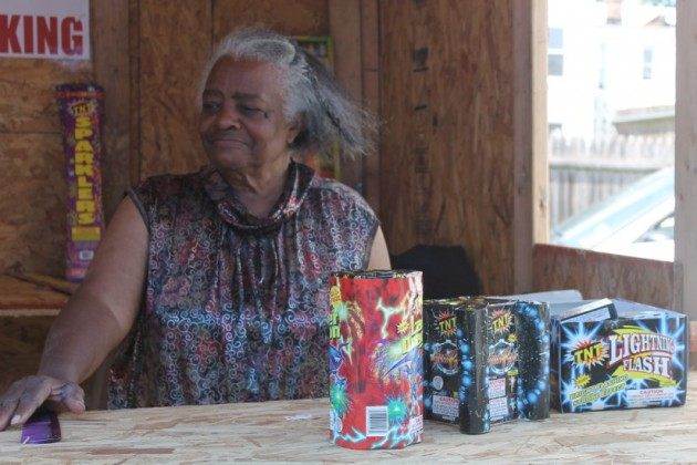 Mattie McLain, 78, has sold fireworks from her stand behind Mi Casita Bakery for decades