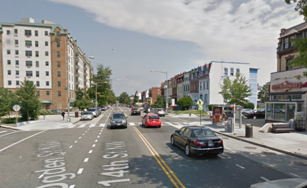 14th and Ogden Streets NW, photo via Google Street  View