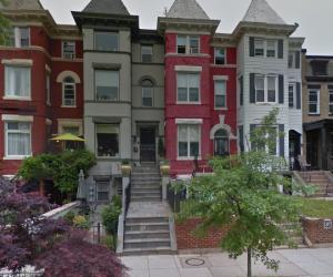 1201-1203 Kenyon Street, NW properties as seen on Google Street View