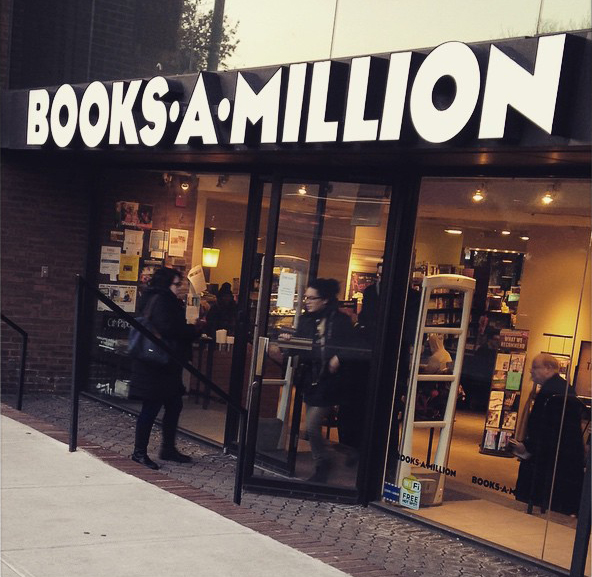 Books-A-Million, Photo via https://www.facebook.com/pages/Books-A-Millon/