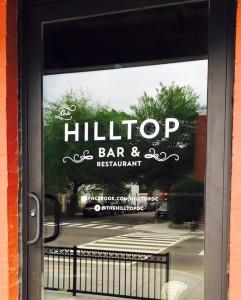 Hilltop Bar signage