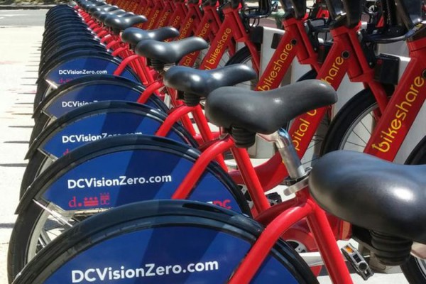Vision Zero Bikeshare bikes