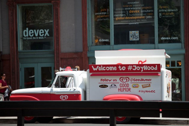 The old-timey Good Humor truck
