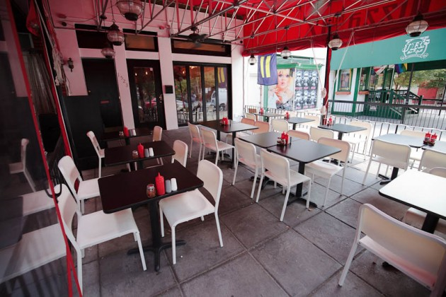 Outdoor patio at Pasha's Kitchen