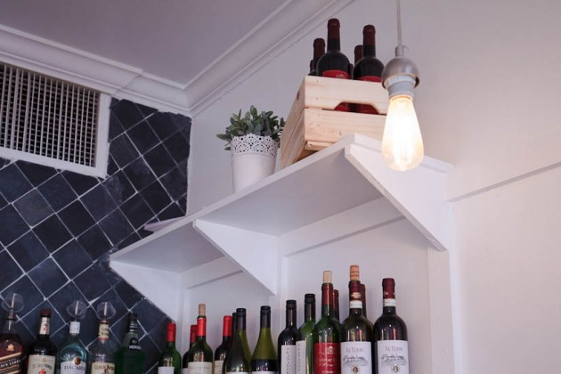 Like Pizza No. 17, Pasha's Kitchen features a variety of wines.