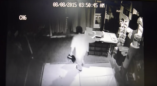 A man was filmed breaking into arts nonprofit BloomBars on Aug. 9