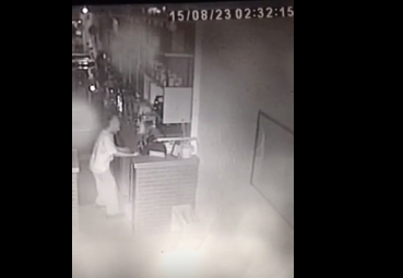 Man filmed in burglary at Colony Club