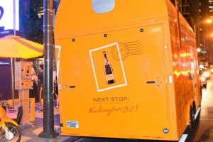 Veuve Clicquot's champagne truck (Photo via Twitter/ Veuve Clicquot)