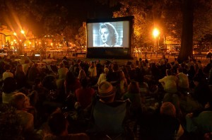 Film screening at Dupont Circle