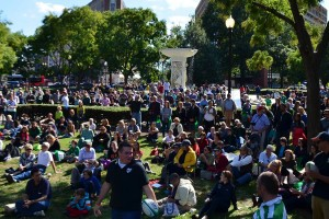 Crowd near Dupont Circle, photo courtesy of Dupont Festival
