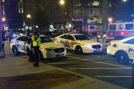 Shooting at 14th and V NW, photo courtesy of Nick Veach