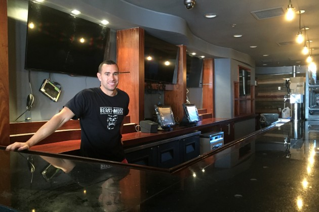 Brian Dombrowski, manager at The Prospect, behind the bar