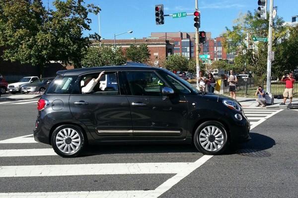 Pope Francis cruising down U Street