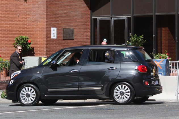 The pope's fiat arrived around 11:30 a.m.