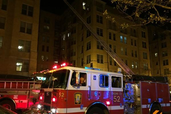 Fire at 1300 U Street NW