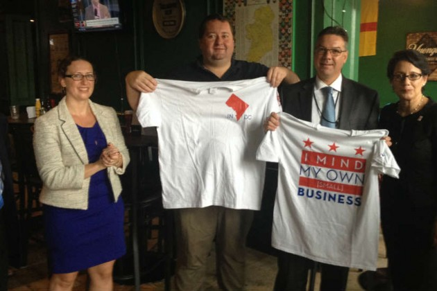 Nadeau, Duffy (center) and Callister pose with shirts designed for the event