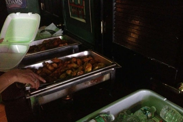 Nadeau and Shaw Main Street staff members left with plenty of wings