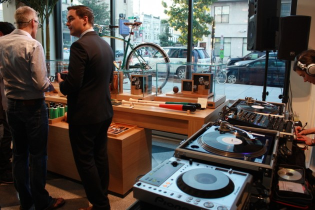 The grand opening event featured two bars and a DJ booth