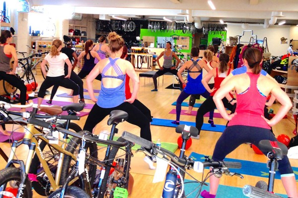 Barre3 class at BicycleSPACEFINAL (Photo courtesy of Alicia Sokol)