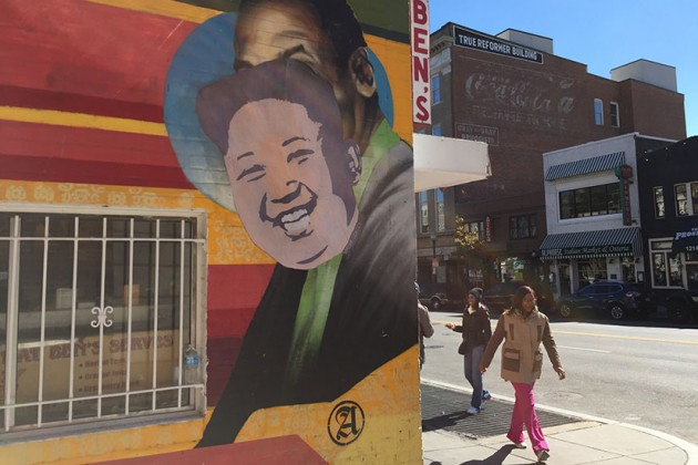 Ben's Chili Bowl mural defaced by Smear Leader on Oct. 19