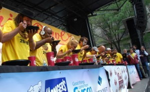 Ben's Chili Bowl eating contest, photo via Ben's Chili Bowl