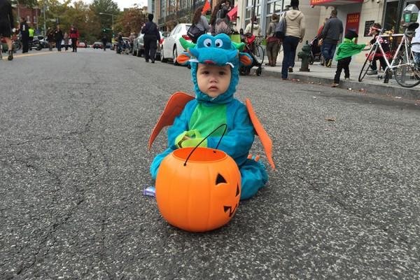 Keiden Seebruck at the Little Goblins Parade