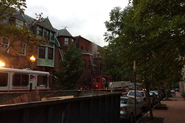 Firefighters rushed to the scene around 8 a.m.