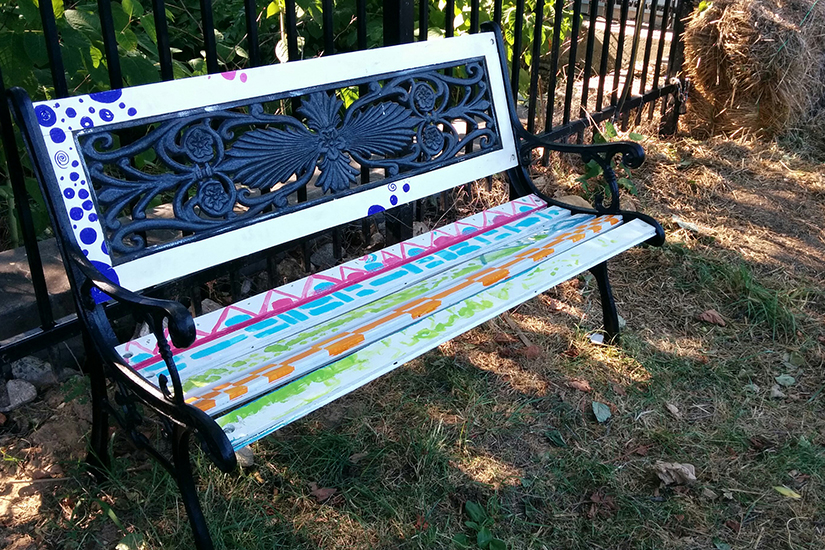 Bruce Monroe Community Garden bench