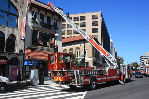 Dupont Circle Shake Shack fire truck