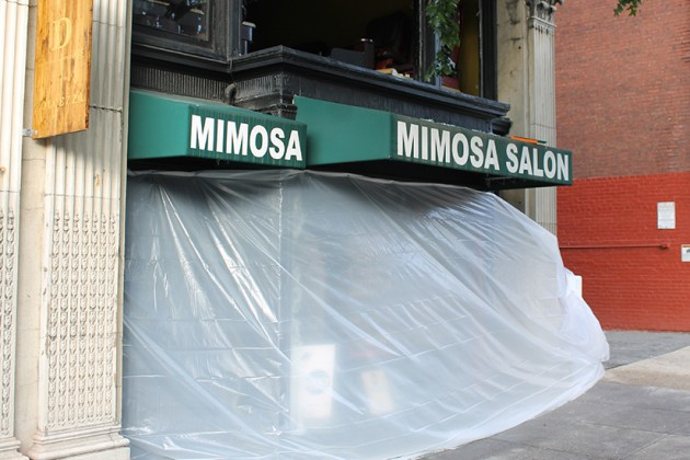 Mimosa Salon, located at 1706 Connecticut Avenue NW, burned in an early morning fire