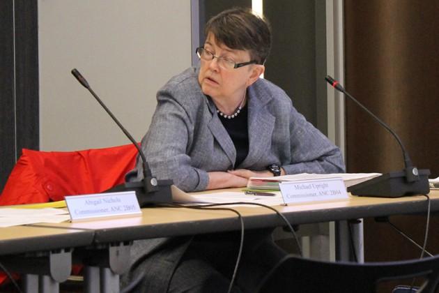 ANC 2B Commissioner Abigail Nichols put forth the motion