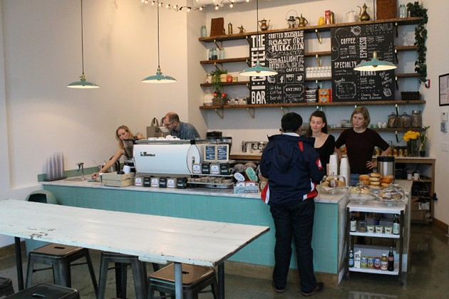 The store, designed for order-and-go service, is smaller than the original Coffee Bar