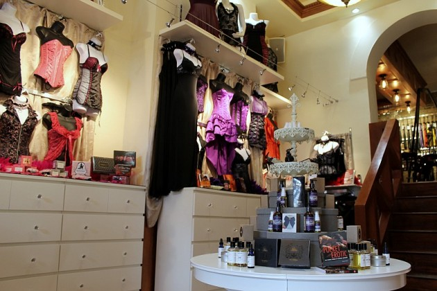Apparel and accessories on display
