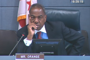 Vincent Orange during committee meeting
