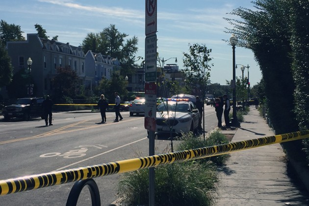 A man was shot and killed in his car on the 2900 block of Sherman Avenue NW around 11:15 a.m.