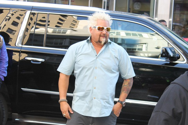 Guy Fieri in front of Bub and Pop's
