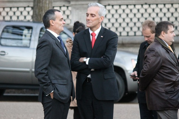 Araud and President Obama's Chief of Staff Denis McDonough