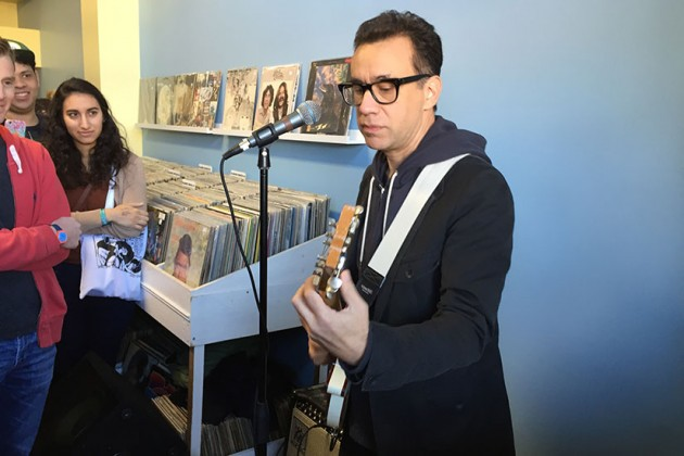 Fred Armisen performs at Red Onion Records
