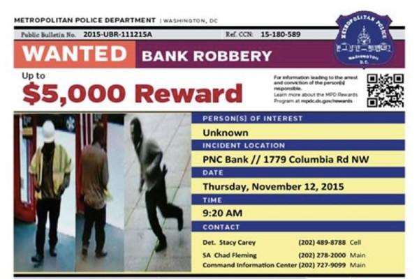 MPD wanted flyer (Image via MPD)
